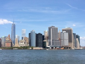 View of Lower Manhattan from Governors Island.